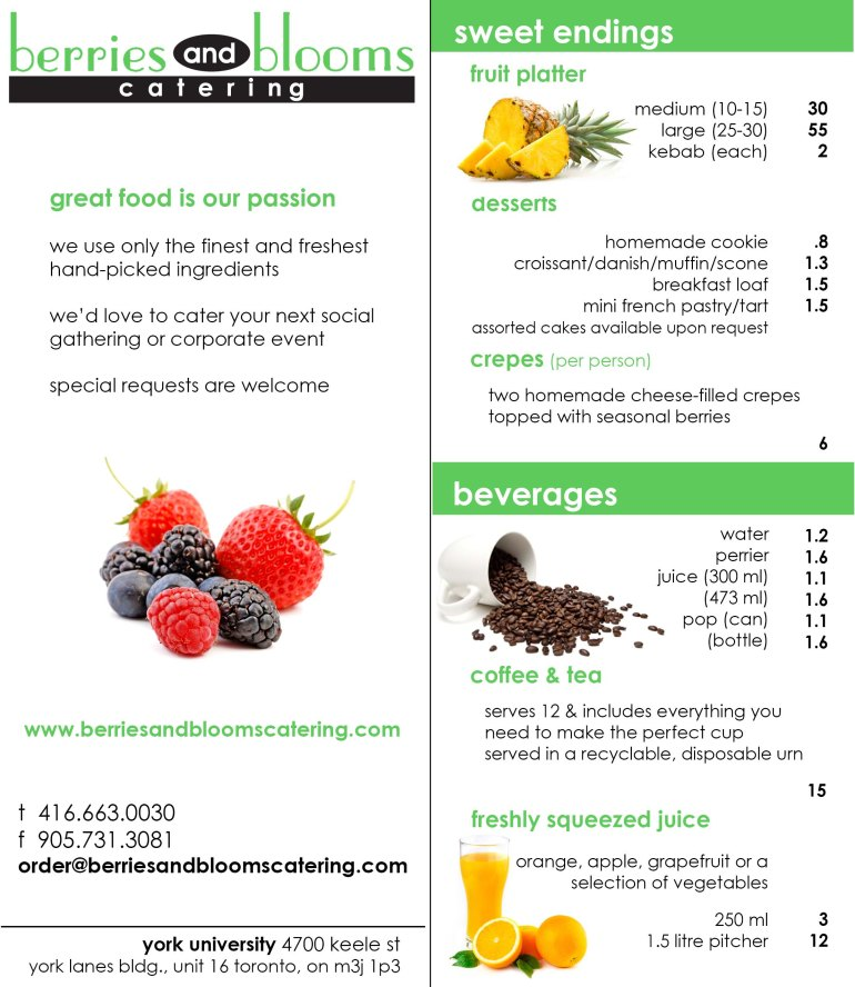 catering menu back